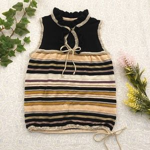 MISSONI Italy striped knit top